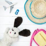 Mode de voyage de vacances d'été d'enfant Photos stock