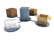 Mode of delivery concept (Isolated) Royalty Free Stock Image