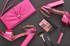 Mode-Design-Frauen-Zubehör eingestellt Zauber-Make-up Lizenzfreies Stockbild