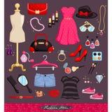 Mode-Einzelteil-Satz Stockfoto