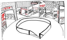 Mode et art de peinture de centre commercial Illustration de Vecteur