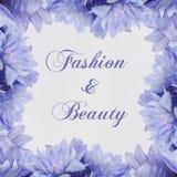 Mode et beauté - thème avec des fleurs Photo libre de droits