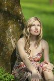 Mode et concept et idées de beauté Portrait de femme caucasienne sensuelle Image libre de droits