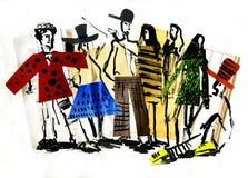 Mode et les gens et type et clo Images stock