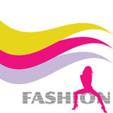 Mode et silhouette rose sexy de vecteur de fille Photographie stock libre de droits