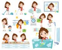 mode för 90 ` som s women_Housekeeping vektor illustrationer