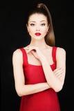 Mode-Foto von jungem schönem vorbildlichem Woman Stockbild