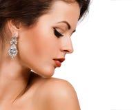 Mode-Frauen-Profil-Porträt. lizenzfreie stockbilder