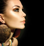 Mode-Frauen-Profil-Porträt stockfotos