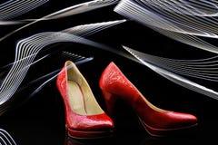 Mode-Frauenschuhe der hohen Absätze lizenzfreie stockfotografie