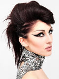 Mode-Frisur mit Fachmann Lizenzfreies Stockfoto