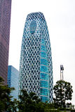 The Mode Gakuen Cocoon Tower in Tokyo. TOKYO, JAPAN - OCTOBER 10, 2015 - The Mode Gakuen Cocoon Tower; The skyscraper is the home to three educational Royalty Free Stock Photography
