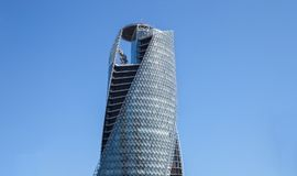 Mode Gakuen Spiral Towers building in Nagoya on APRIL 16,2016 at Stock Photos