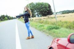 Mode 20 Jahre alte Ledermantel Stockfotos