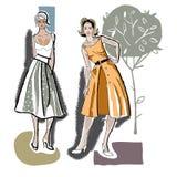 Mode-Mädchen 50s Stockbild