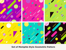 Mode Memphis Style Geometric Pattern de hippie Photo libre de droits