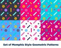 Mode Memphis Style Geometric Pattern de hippie Photos libres de droits