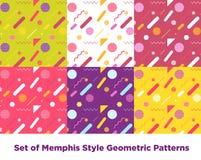 Mode Memphis Style Geometric Pattern de hippie Image libre de droits