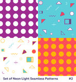 Mode Memphis Style Geometric Pattern de hippie Photo stock