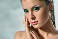 Mode-Modell-Gesicht stockfotos