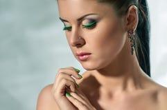 Mode-Modell-Gesicht lizenzfreie stockfotos