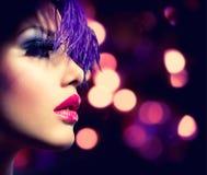 Mode-Modell Girl Lizenzfreies Stockbild