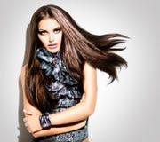 Mode-Modell Girl Stockbild