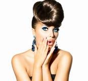 Mode-Modell Girl Portrait Lizenzfreies Stockfoto
