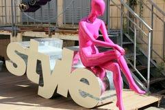 Mode-Modell im Urlaub Stockbilder