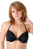 Mode noire de bikini Image libre de droits
