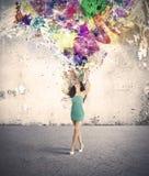Mode- och kreativitetexplosion Arkivbilder