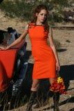 Mode orange Image libre de droits
