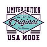 Mode original des Etats-Unis de conception Image libre de droits