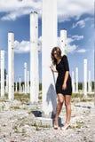 Mode på byggnadskonstruktion Royaltyfri Foto