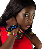 Mode-Porträt. Schönheits-Gesicht Lizenzfreie Stockbilder