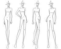 mode poserar stock illustrationer