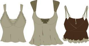 mode s skissar överkantvektorkvinnor Royaltyfri Bild