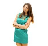 Mode, Schönheit und Leutekonzept - hübsche lächelnde Frau Lizenzfreie Stockbilder