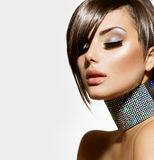 Mode-Schönheits-Mädchen Stockbild