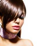 Mode-Schönheits-Mädchen stockbilder