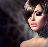 Mode-Schönheits-Mädchen Stockfotos