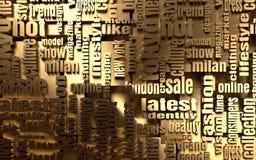 Mode-Schlüsselwort-Tag-Cloud Lizenzfreies Stockbild
