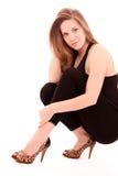 mode shoes kvinnan arkivbild