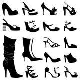 mode shoes kvinnan stock illustrationer