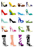 mode shoes kvinnan Royaltyfri Foto