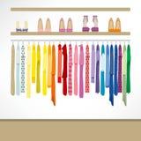 Mode-Shop-Hintergrund Stockfoto