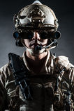 Mode solennelle de style d'homme de soldat Photographie stock libre de droits