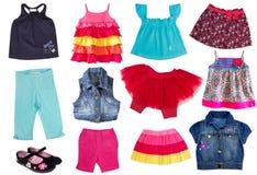 Mode summergirl Kleidung. Lizenzfreie Stockfotografie