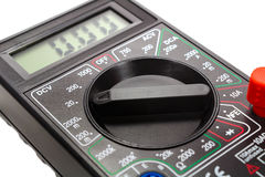 Mode switch of a digital multimeter closeup Stock Images