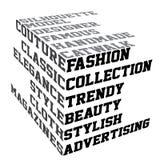 mode terms typografi Fotografering för Bildbyråer